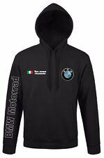 FELPA CAPPUCCIO BMW MOTORRAD CON RICAMO NOME PERSONALIZZATO WHITE BLACK SHIRT