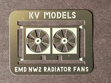 ETCHED RADIATOR FAN FOR KATO NW-2 HO SCALE BY KV MODELS KV-111H