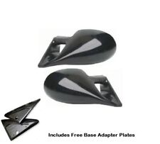 FIAT PUNTO 3 DR HATCH 94-97 M3 STYLE CAR DOOR MIRRORS BASE PLATES - BLACK