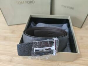 TOM FORD BLACK/Brown T Icon Belt Size 95 / 38 (100% Authentic & New)