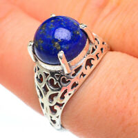 Lapis Lazuli 925 Sterling Silver Ring Size 8.25 Ana Co Jewelry R60883F