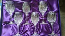More details for edinburgh crystal small wine/port/sherry glasses - serenade design - set of 6