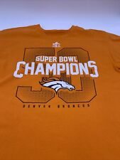 Super Bowl 50 Denver Broncos Super Bowl champions orange T-shirt.    A7
