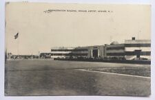 Vintage 1948 NJ Postcard Newark New Jersey Airport Administration Building cars