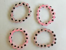Pink Evil Eye bracelet easy to put on and take off