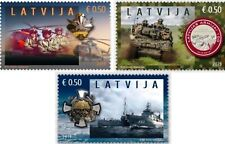 Militaria Latvia Lettland 2019 Latvian National Armed Forces - 100 years MNH