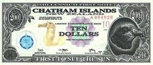 Chatham Islands (New Zealand) 10 dollars, series 2001, POLYMER.