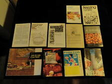 Vintage Freezing Cookbook Recipe Booklet Pamphlet Promo 11pc Lot Free Ship A83 s