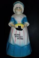 Vintage Pottery Betsy Ross Grandma Home Sweet Home Kitchen Utensil Holder
