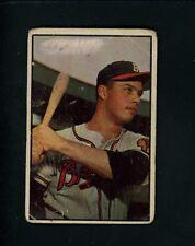 1953 Bowman # 97 Eddie Mathews Fair cond Milwaukee Braves Third Baseman
