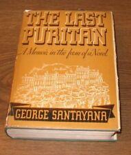 THE LAST PURITAN George Santayana 1st Edition Ed 1936