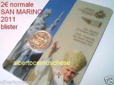 blister coin card 2011 2 euro SAN MARINO visita Papa Saint Marin Сан - Марино