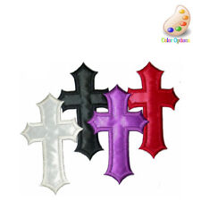 "Iron On Applique - Cross 1.5"" x 2.5"" Sateen Backed 4 pk"