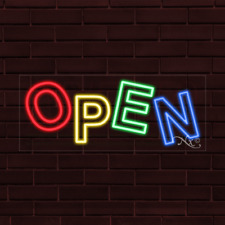 "Brand New ""Open"" 32x13X1 Inch Led Flex Indoor Sign 30599"