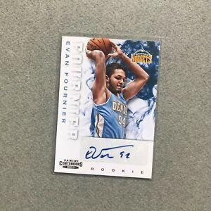 2012-13 Panini Contenders #219 Evan Fournier Rookie Auto basketball card