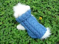 S handmade knit dog sweater