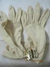 Vintage USA stretch 100% Nylon Ladies Gloves tan/oyster one size