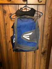 Easton Baseball Backpack Glove Zone Youth Blue Gray Black Bat Bag backpack Euc