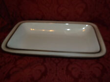 THOMAS COOKWARE OF GERMANY SERVING TRAY WITH DARK BROWN TRIM