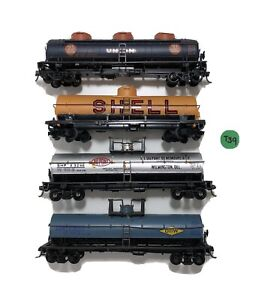 Lot of 4 diff Tank Cars: Shell, 76 Union, Dow, DuPont Please Read Used