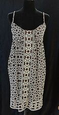 MAGGY LONDON- BROWN & BEIGE SPAGHETTI STRAP DRESS- SZ 10- USED ONCE