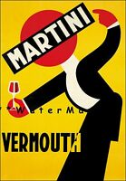 Martini Vermouth 1925 Vintage Poster Print Italian Liquor Wine Advertising Art
