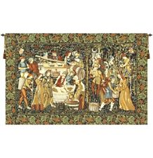"""The Vintage I European Tapestry Wall Hanging H 110"""" x W 165"""""""
