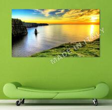 Quadro moderno Stampa su Tela Cotone cm.120x60 Paesaggio Irlanda Arredo Casa