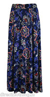 LADIES NEW Per Una M&S Marks & Spencer MAXI FLORAL SKIRT  sz 8-24 BLUE MULTI