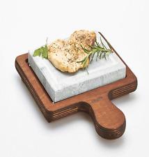 Piastra in pietra ollare 16x20 base legno 25x32 cucina sana e naturale bisetti