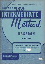 Rubank Intermediate Method Bassoon - H Voxman - 4470230NZ  **** SALE