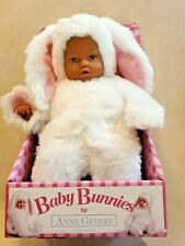 """Anne Geddes 15"""" Plush Doll in Bunny Outfit African American Baby Bunnies"""
