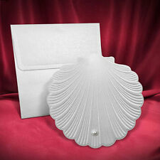 100 Nautical Wedding Invitations Shell Invitations Beach Style Free Shipping