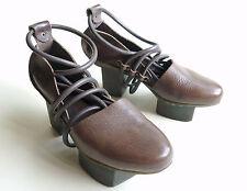 TRIPPEN Germany - Women's Leather GETA HAPPY Heels BANISH f brown EU38 US7 UK5