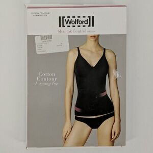 WOLFORD Rose Tan Cotton Contour Forming Top Sz 36