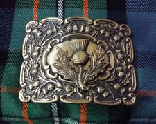 Scottish Kilt Belt Buckle Thistle Crest Antique Finish/Thistle Emblem Buckles