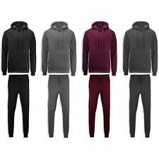 NEW Men Biker Fleece Sweatsuit Track Suit Stacked Twin Needle Joggers ALL SIZES