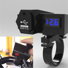 Waterpoorf ATV Motorcycle USB Charger 5V 3.1A Phone Power Socket LED Volt Meter