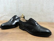Loake Uomo Nero Oxford CAP ALATO in Pelle Tg UK 8.5 G US 9.5 EU 42.5
