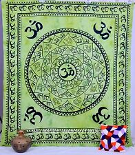 Om Mur Reine Aum Tapisserie Chakra Couvre-Lit Suspendus Literie Vert Couverture