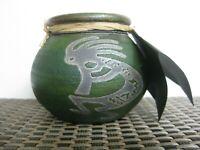 Artisist Signed Jeremy Diller Raku Art Pottery Vessel Mythical Joyful Kokopelli