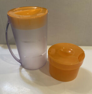 Mr. Coffee Iced Tea Maker 2 Qt Pitcher Brew Basket Lid Orange Replacement Parts