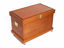 Handmade Large Tack Trunk Mdade From Solid Cherry Hardwood