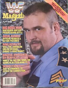 Vintage WWF Wrestling Magazine April 1990 Big Boss Man Cover near excellent cond