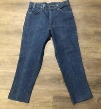 VTG Levis 646-0217 Indigo Orange Tab Jeans Size 32 X 27 Made USA