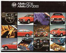 ALFA ROMEO Alfortville GT 1.6 & GTV6 2000 1976-78 francese delle vendite sul mercato opuscolo