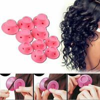 10PCS Silicone Hair Curlers Rollers No Clip Formers Styling Curling DIY Tool