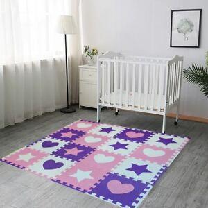 Interlocking Floor Tiles Play Mat Kids Bedroom Nursery Playroom Puzzle Soft Foam