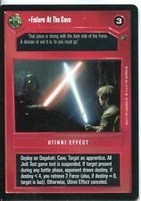 Star Wars CCG Dagobah Limited BB Failure At The Cave