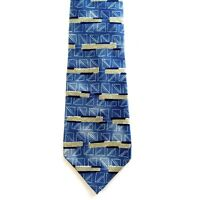 Metropolitan Museum of Art Tie Mens Silk Blue Geometric Necktie Squares